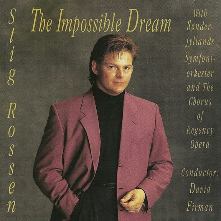 Cd Cover - Stig Rossen The impossible Dream fra 1993
