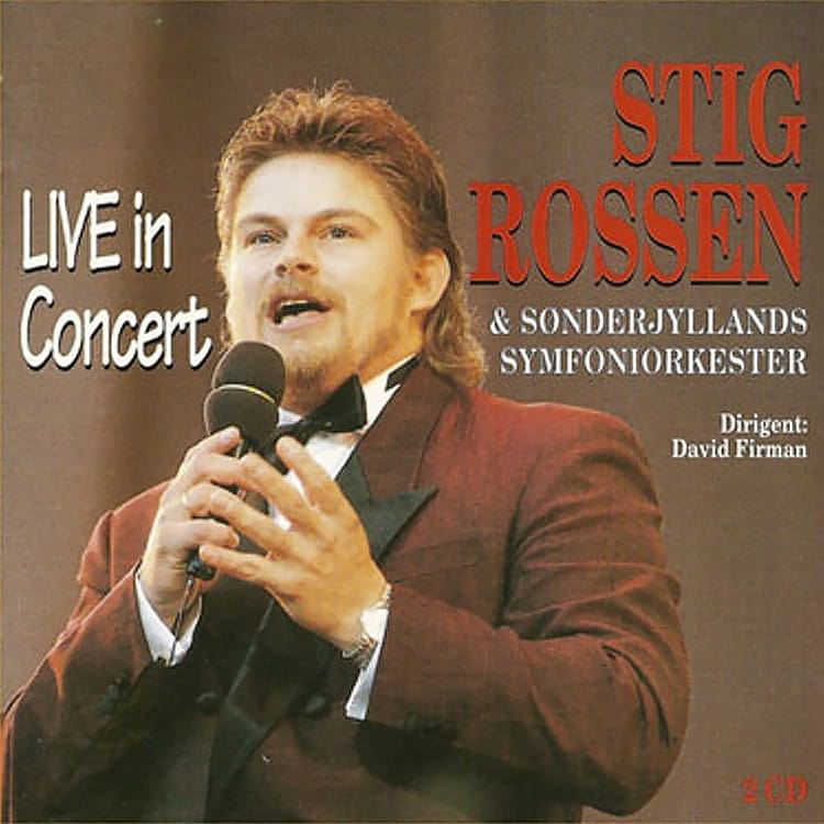 CD Cover - Stig Rossen Live in concert fra 1994