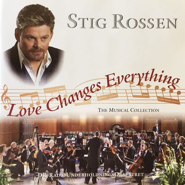 CD Cover - Stig Rossen Love changes everything